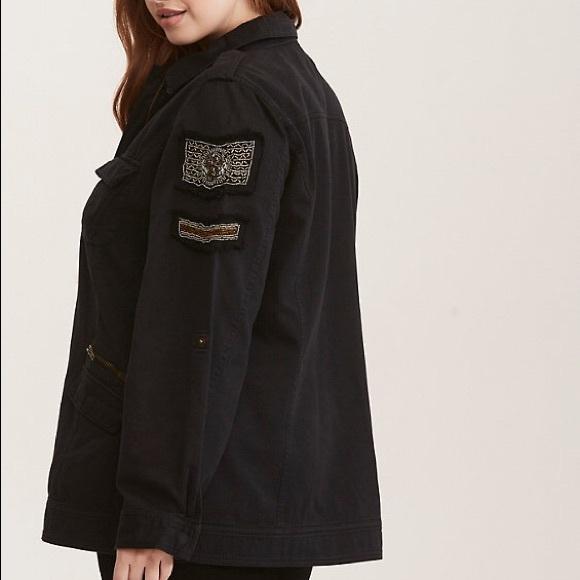 torrid Jackets & Blazers - NWT Torrid Black Utility Beaded Jacket Size 3